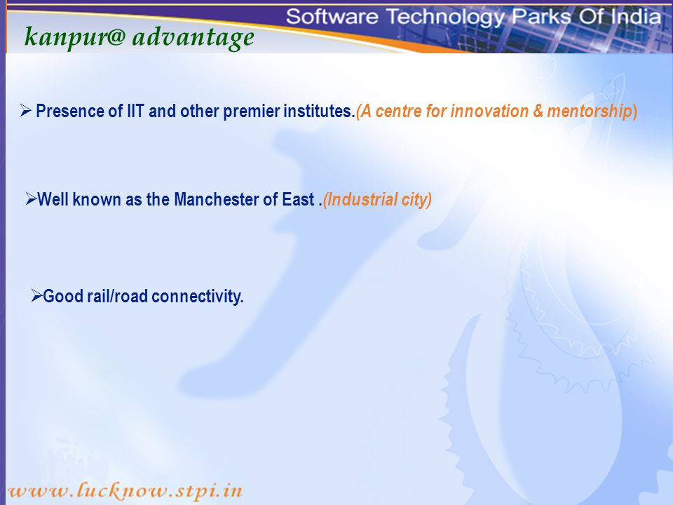 STPI KANPUR An ideal destination for IT enable services…