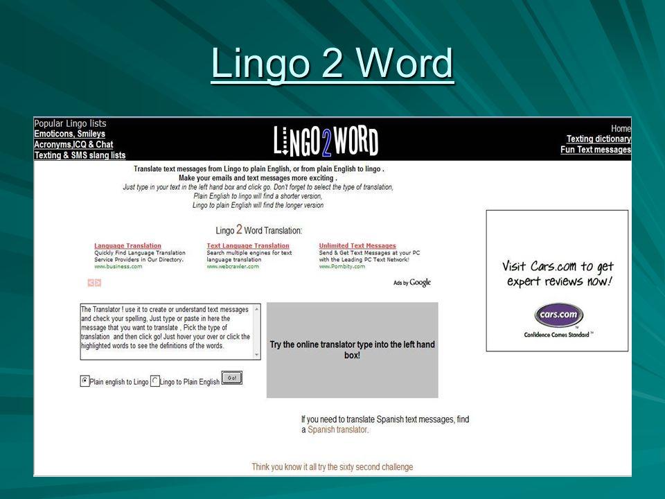 Lingo 2 Word Lingo 2 Word