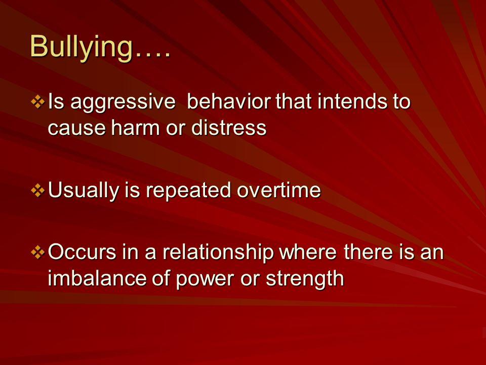 Bullying….