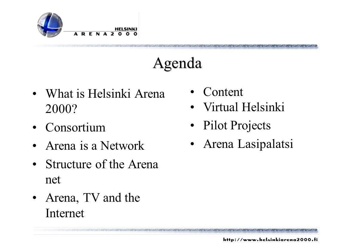 Agenda What is Helsinki Arena 2000.
