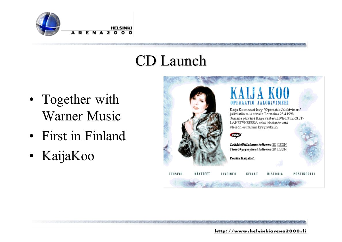 CD Launch Together with Warner Music First in Finland KaijaKoo