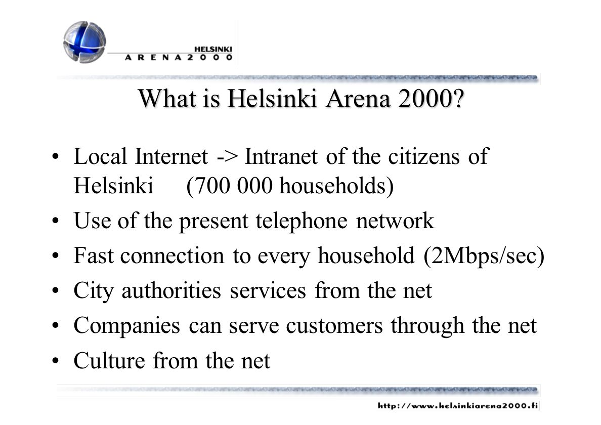 What is Helsinki Arena 2000.