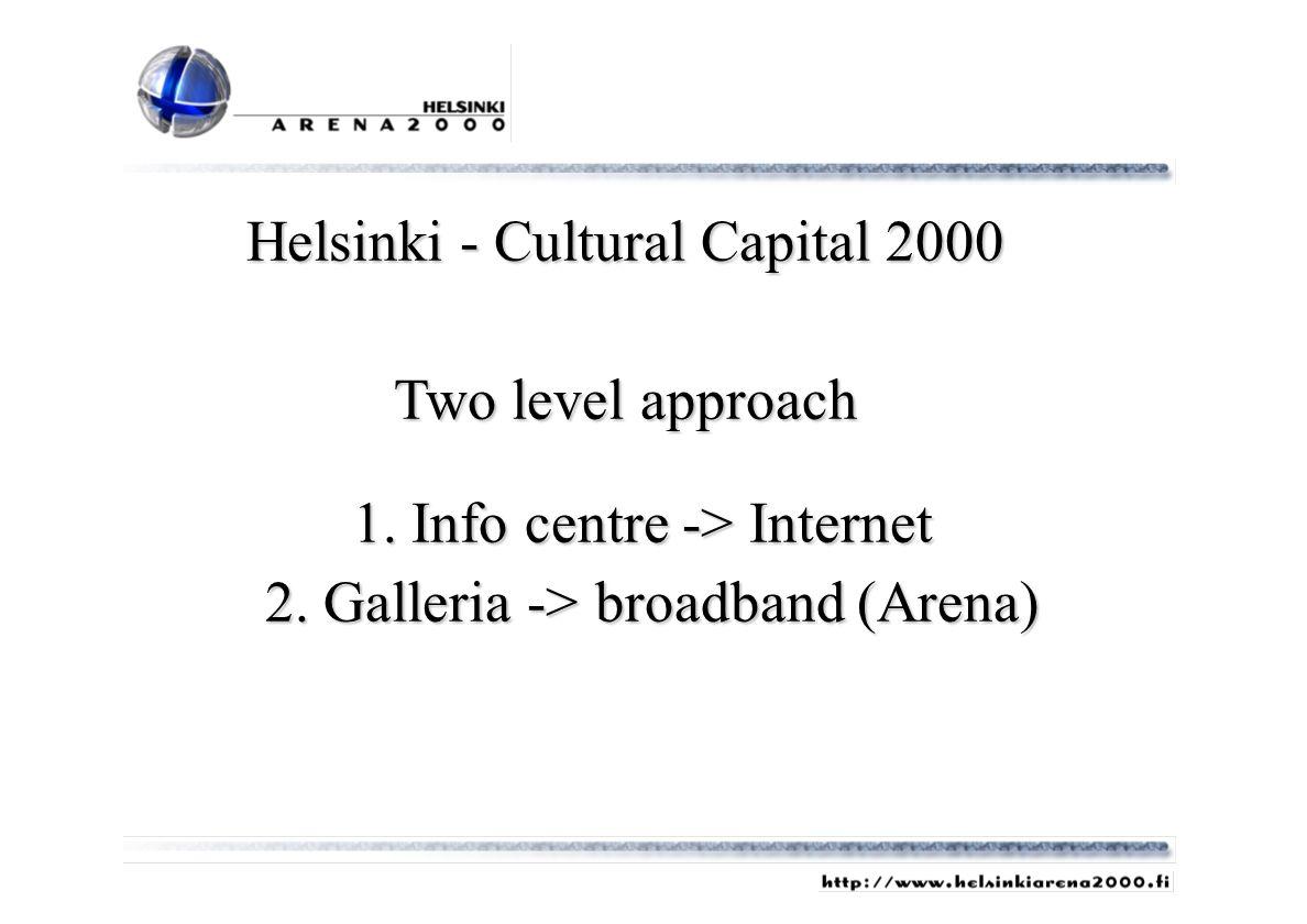 Helsinki - Cultural Capital 2000 Two level approach 1.