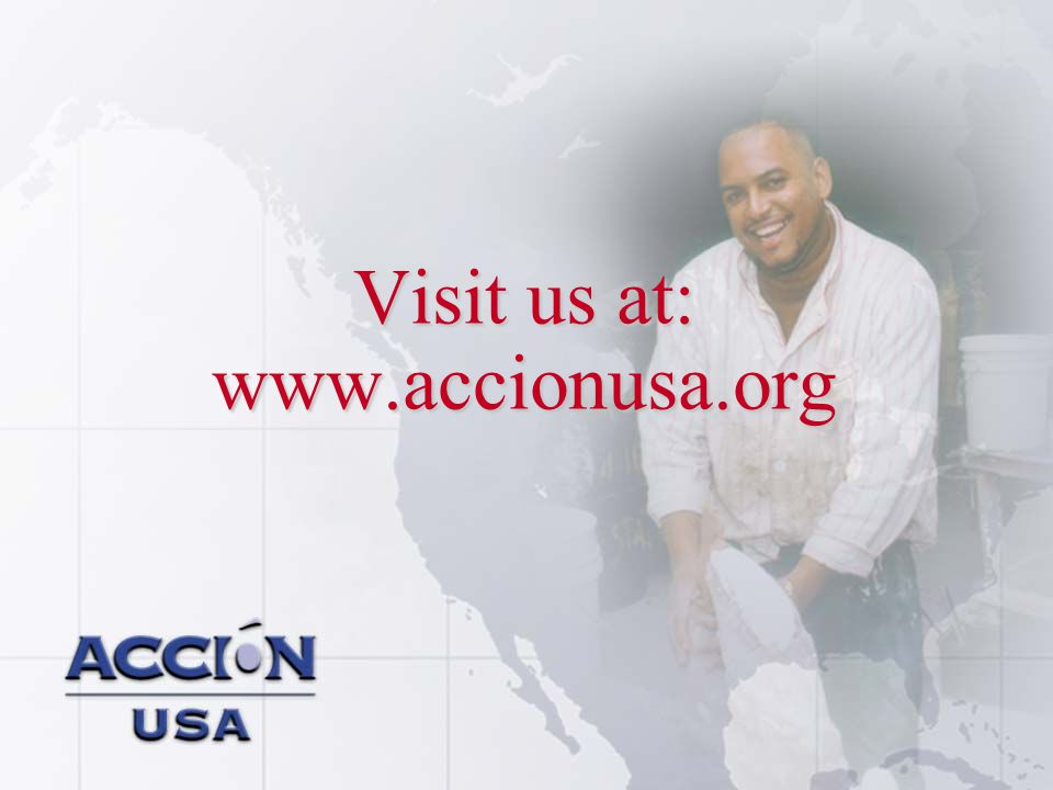 Visit us at: www.accionusa.org