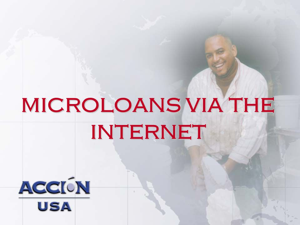 microloans via the internet