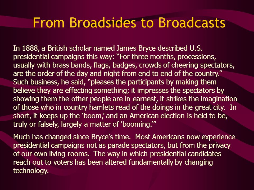 In 1888, a British scholar named James Bryce described U.S.