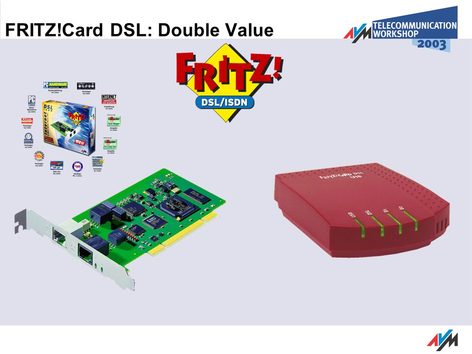 FRITZ!Card DSL: Double Value