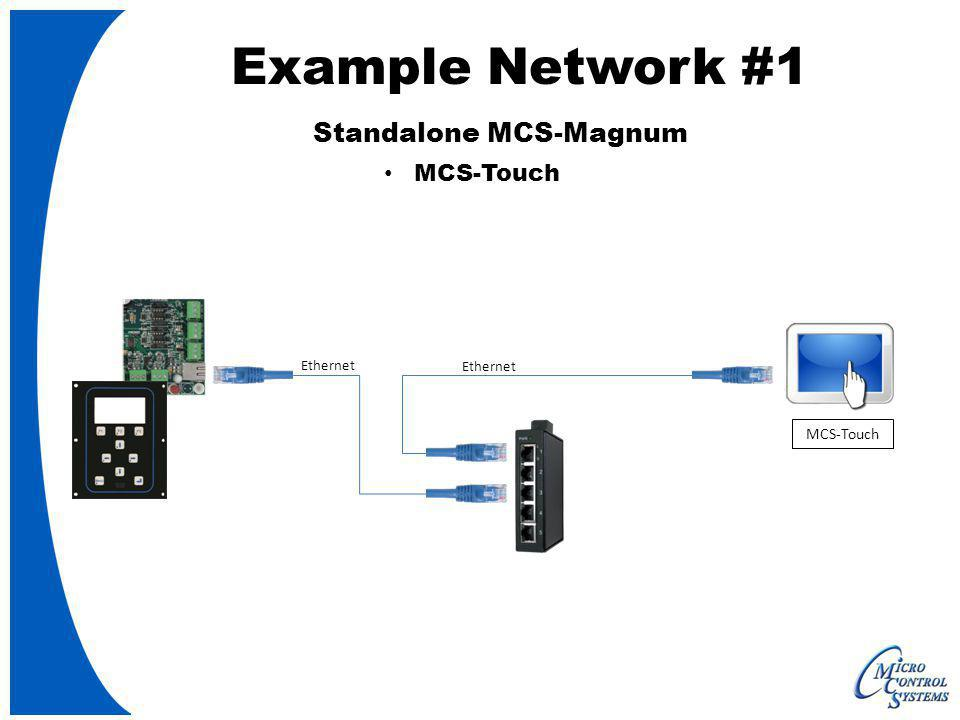 Ethernet MCS-Touch Ethernet Example Network #1 Standalone MCS-Magnum MCS-Touch