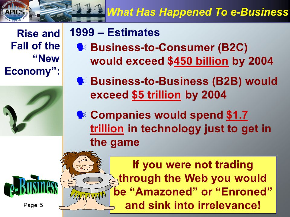 Page 5 What Has Happened To e-Business.