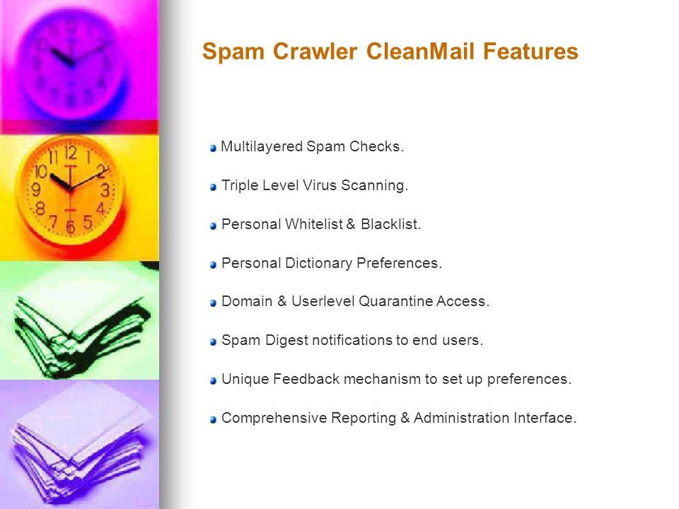 Spam Crawler CleanMail Features Multilayered Spam Checks.