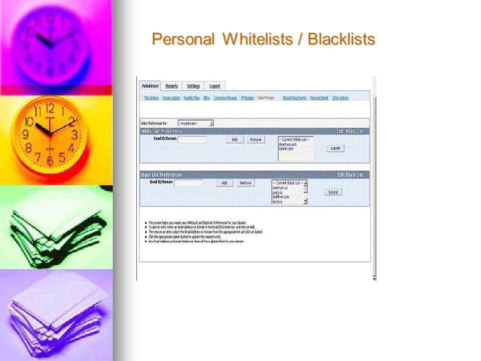 Personal Whitelists / Blacklists