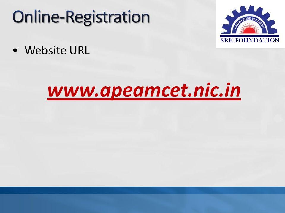 Website URL www.apeamcet.nic.in