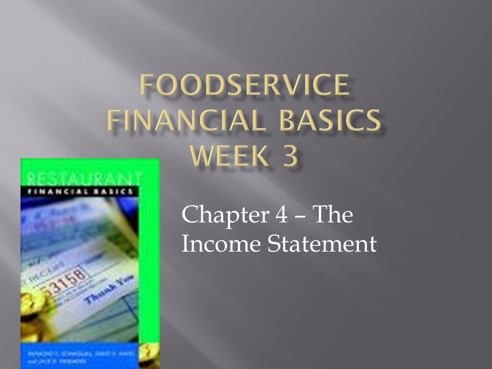 Chapter 4 – The Income Statement