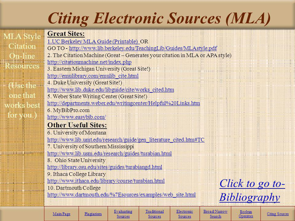 Website - Parenthetical Citation (MLA) MLA Style Parenthetical Reference – This is an in-text citation that points the reader to your bibliographic ci