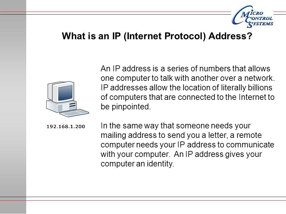 What is an IP (Internet Protocol) Address.