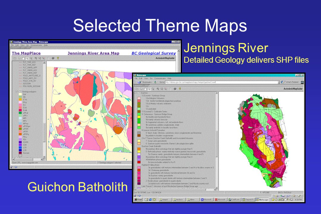 Selected Theme Maps Jennings River Detailed Geology delivers SHP files Guichon Batholith