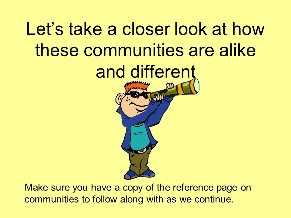 Community Travel Facts Traveling in the Cyber Community is a lot like traveling in the community you live in.