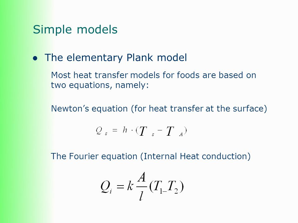 Summary The model can only be as good as the data There are now numerous sources of data which cover a wide range of thermal properties (in addition to the data you need) Software is available to estimate thermal properties Best results will always be attained from actual measurements of HTC and thermal properties