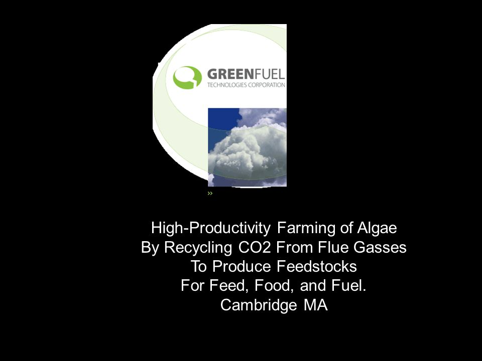 High-Productivity Farming of Algae By Recycling CO2 From Flue Gasses To Produce Feedstocks For Feed, Food, and Fuel.