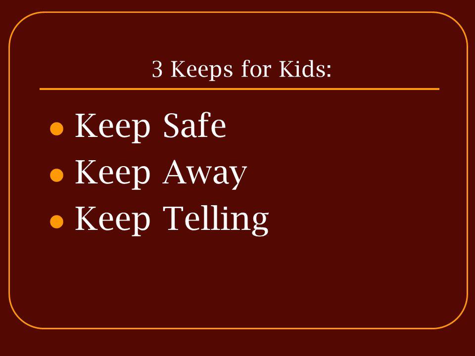 3 Keeps for Kids: Keep Safe Keep Away Keep Telling