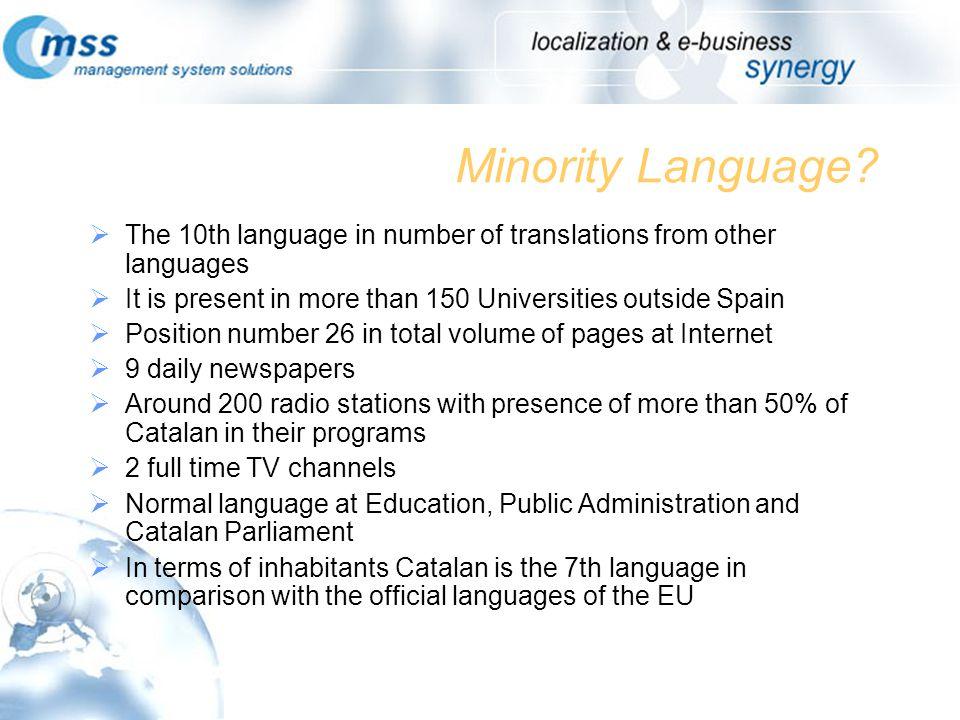 Minority Language.