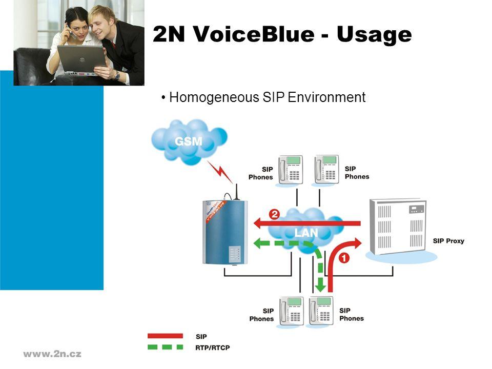 2N VoiceBlue - Usage Homogeneous SIP Environment