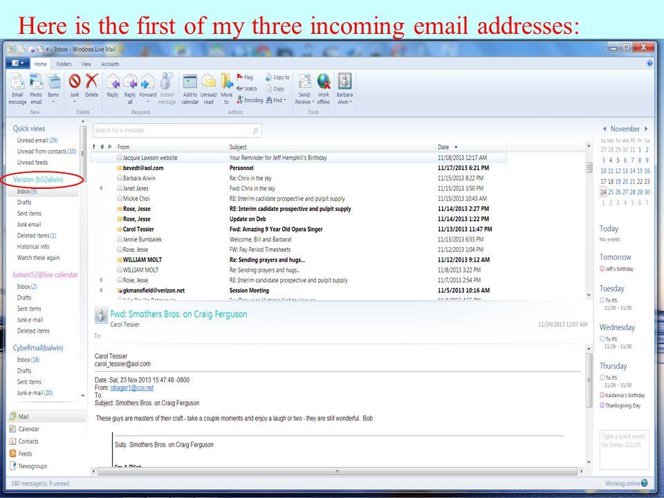 Calendar - Windows Live Mail