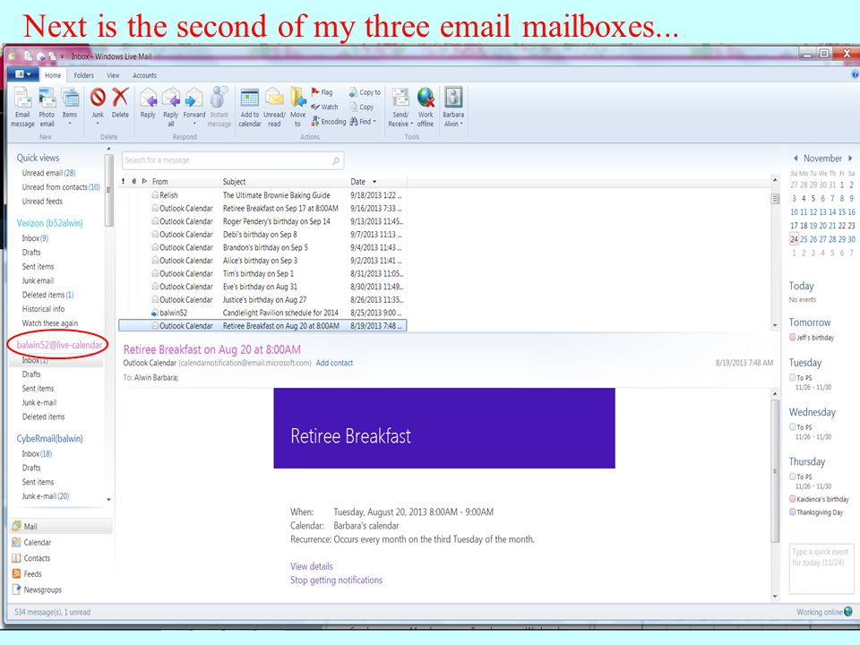 And then the email address for all my general email messages...