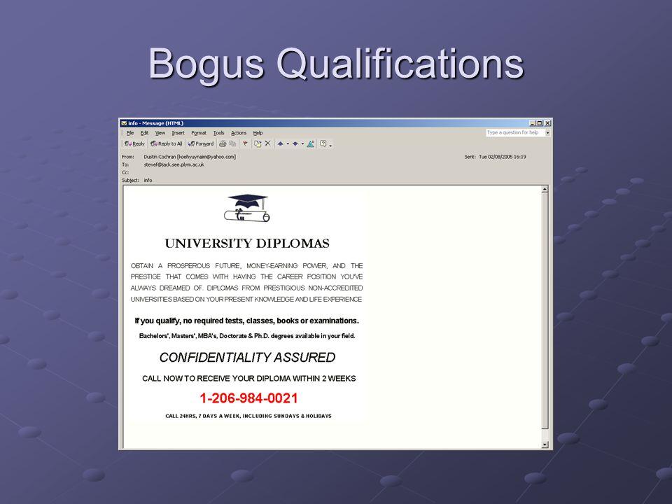 Bogus Qualifications