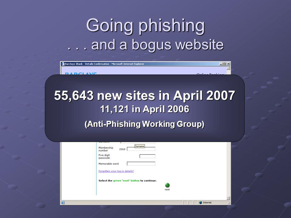 Going phishing...