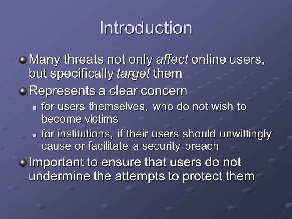 Threats facing e-learners