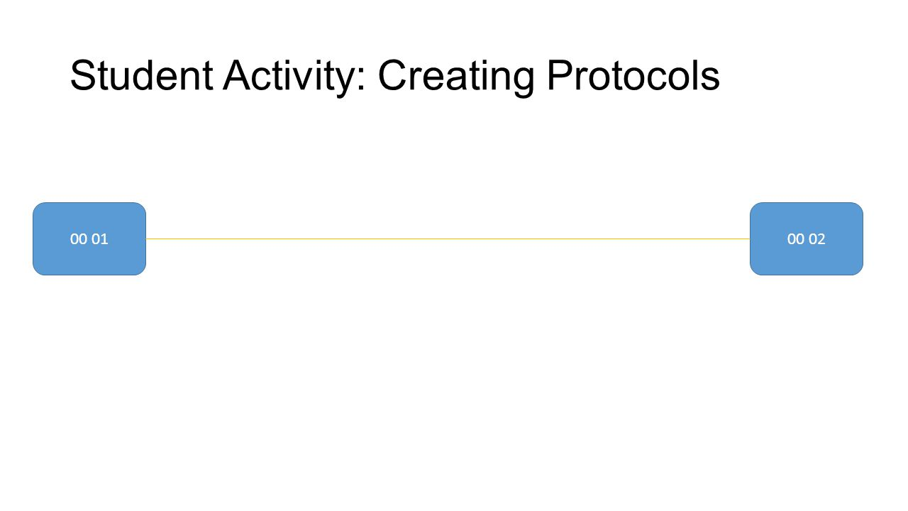 Student Activity: Creating Protocols 00 0100 02