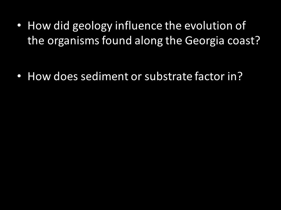 How does sediment or substrate factor in?