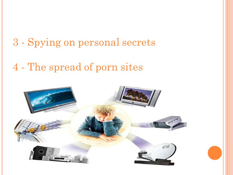 3 - Spying on personal secrets 4 - The spread of porn sites