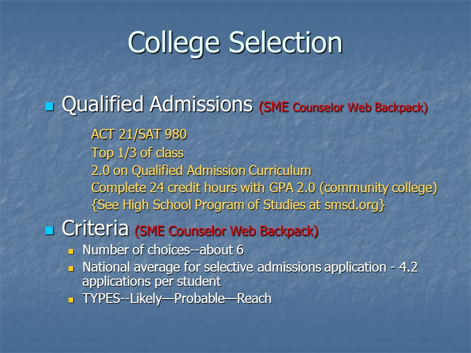 Ethical and Personal Responsibilities Deposit to one college only Deposit to one college only Authentic applications, essays, and resumes Authentic applications, essays, and resumes Personal conduct and reporting to colleges Personal conduct and reporting to colleges Social media sites Social media sites Maintain high academic performance Maintain high academic performance