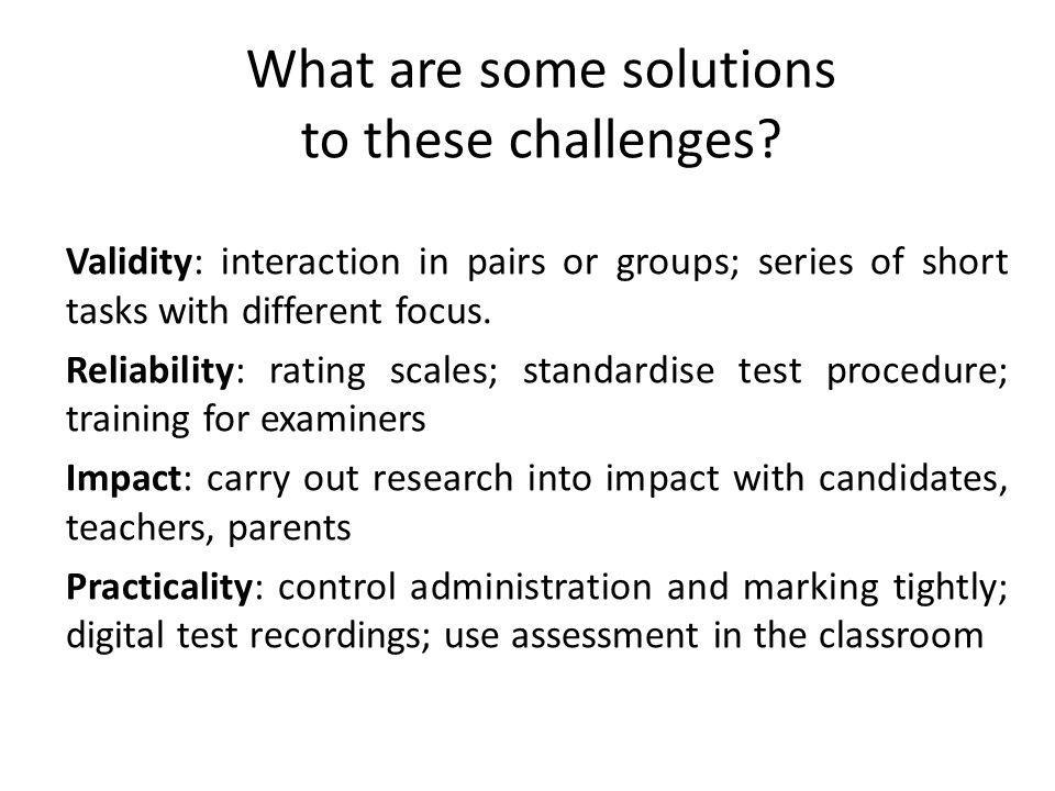 What are some solutions to these challenges.