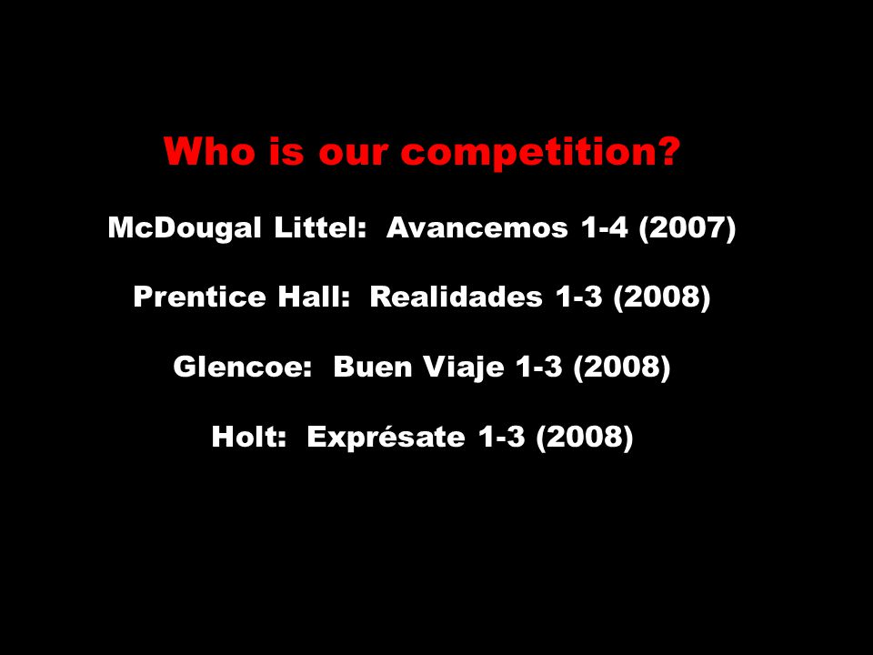 Who is our competition.
