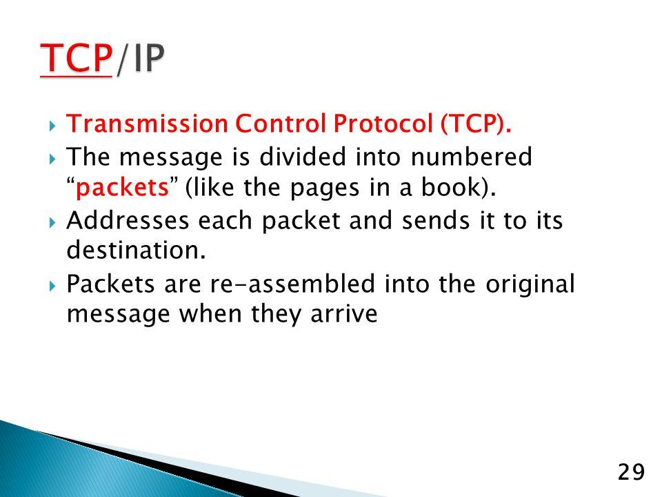 Transmission Control Protocol (TCP).