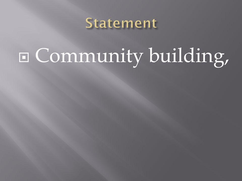 Community building,