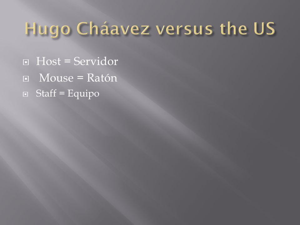 Host = Servidor Mouse = Ratón Staff = Equipo