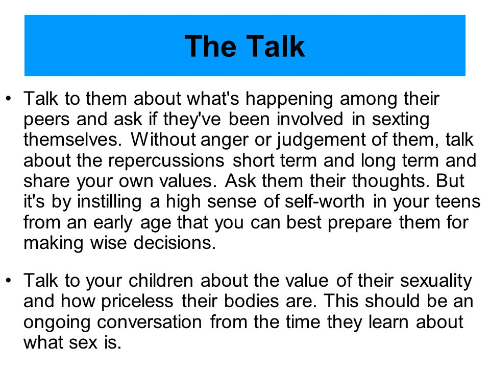 Sexting cont. v: the act of text messaging someone in the hopes of having a sexual encounter with them later A recent survey hosted by Teenage Researc