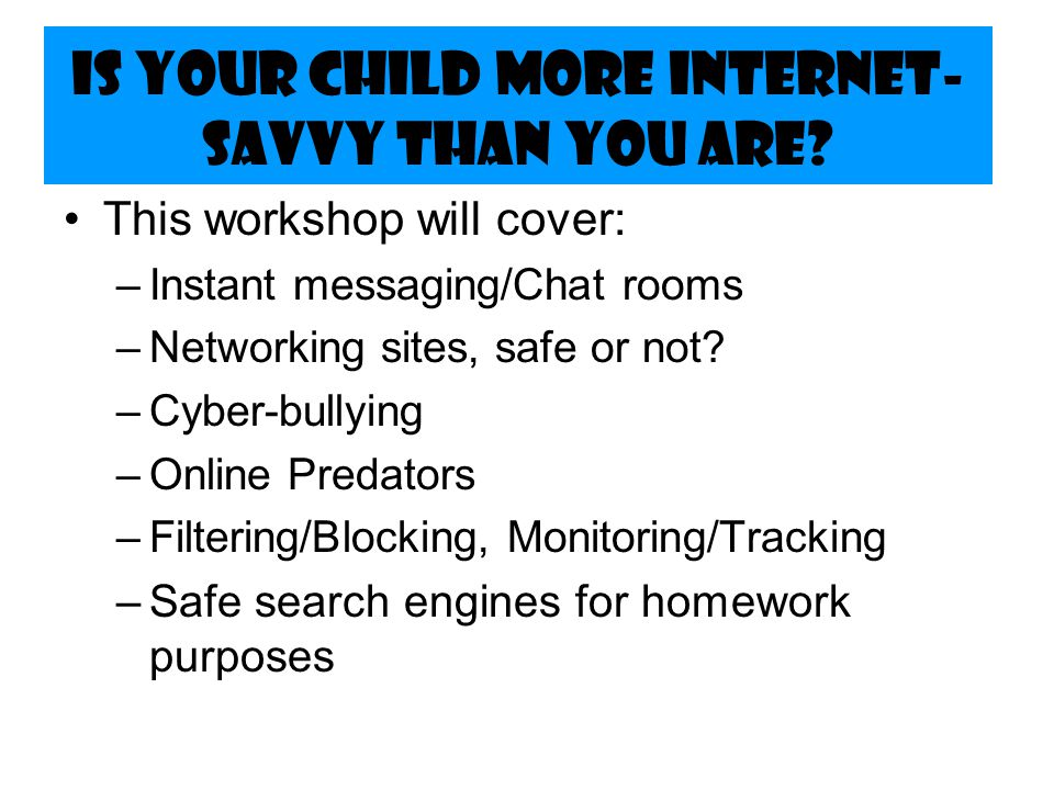 What should parents know to keep their children safe online