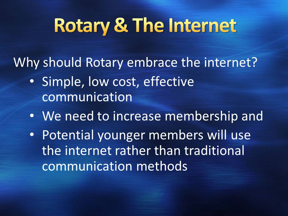 We have many way of communicating using the internet including - Websites Email Social Networking