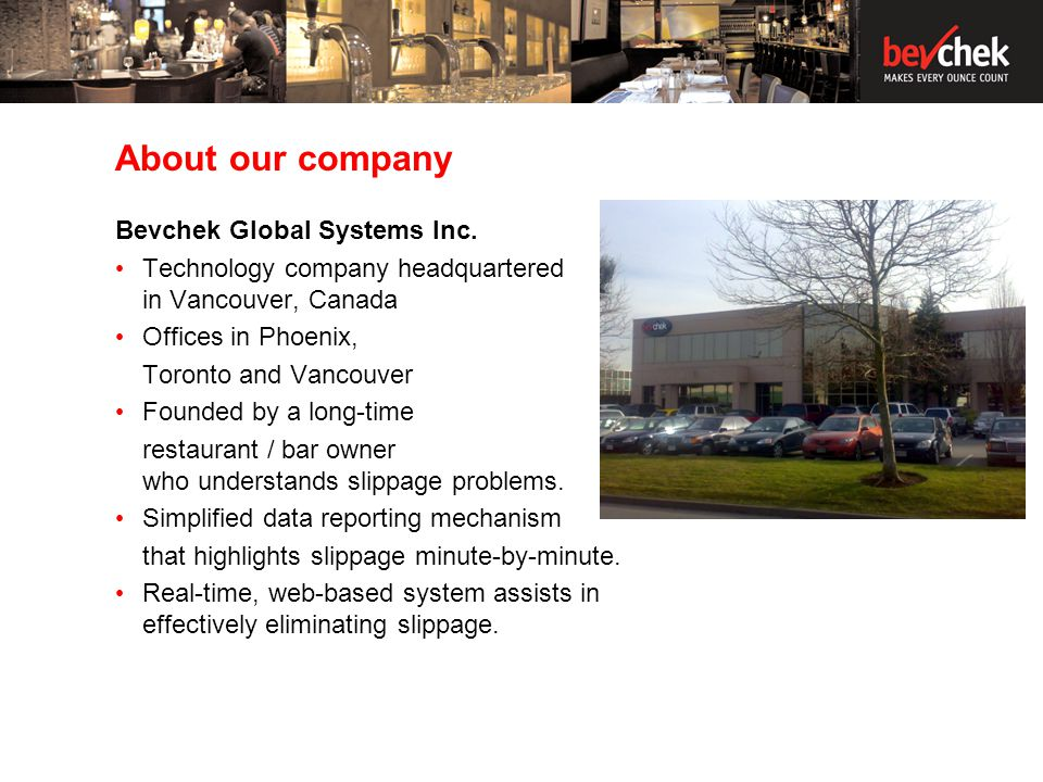 About our company Bevchek Global Systems Inc.