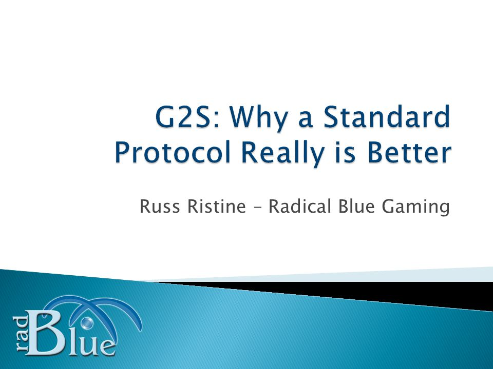 Slide 32 A case study of a successful G2S deployment