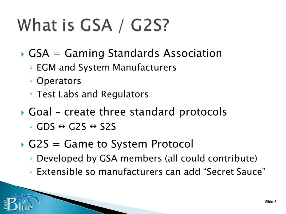 Slide 26 Now – 10% of EGMs are checked each year With G2S GAT, software can be validated daily Supports CRC, MD5, and SHA signatures (Whatever is supported by the EGM) With S2S - Verify packages on servers EGM signature = Server signature = Program signature from lab