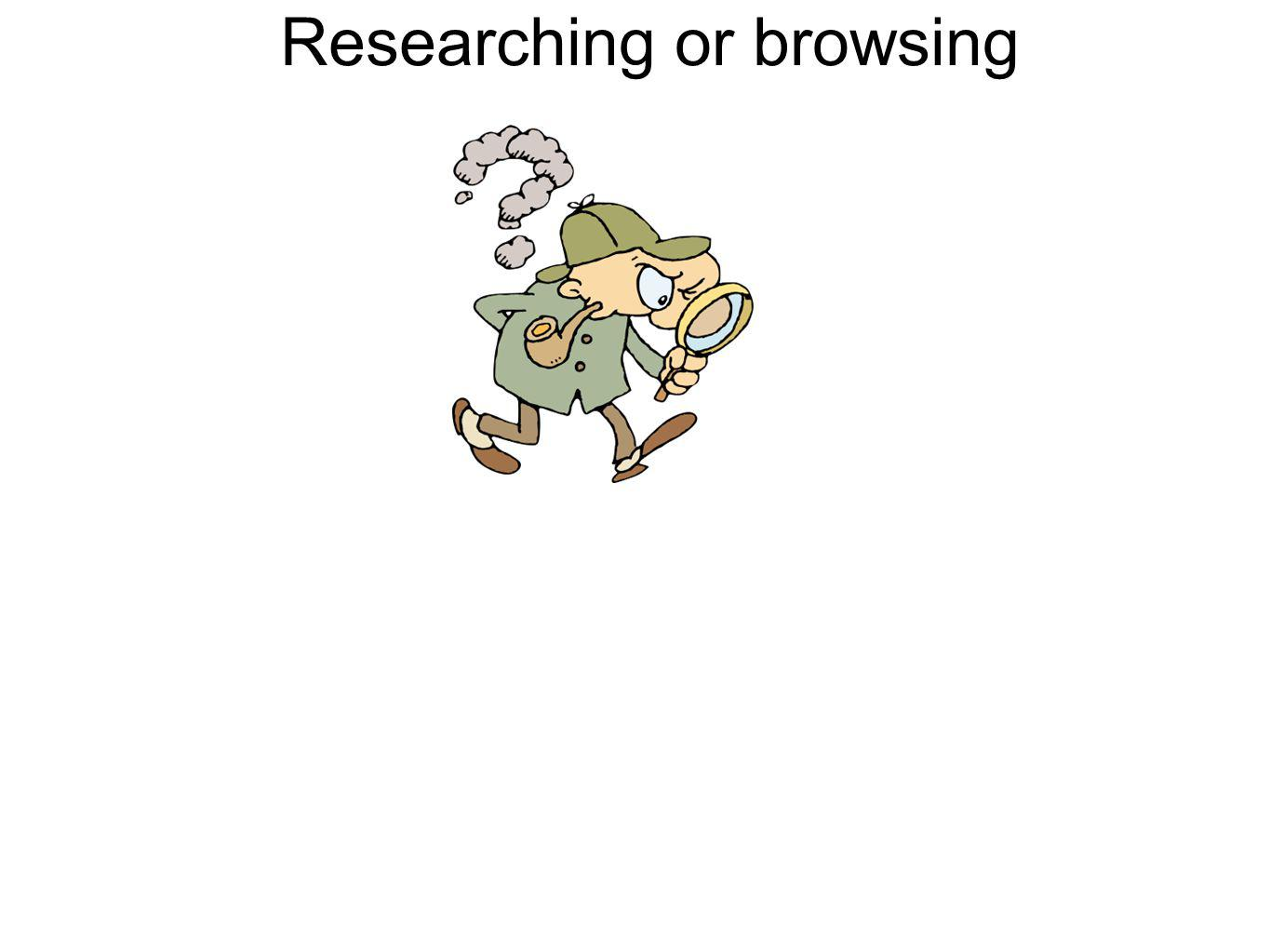 Researching or browsing