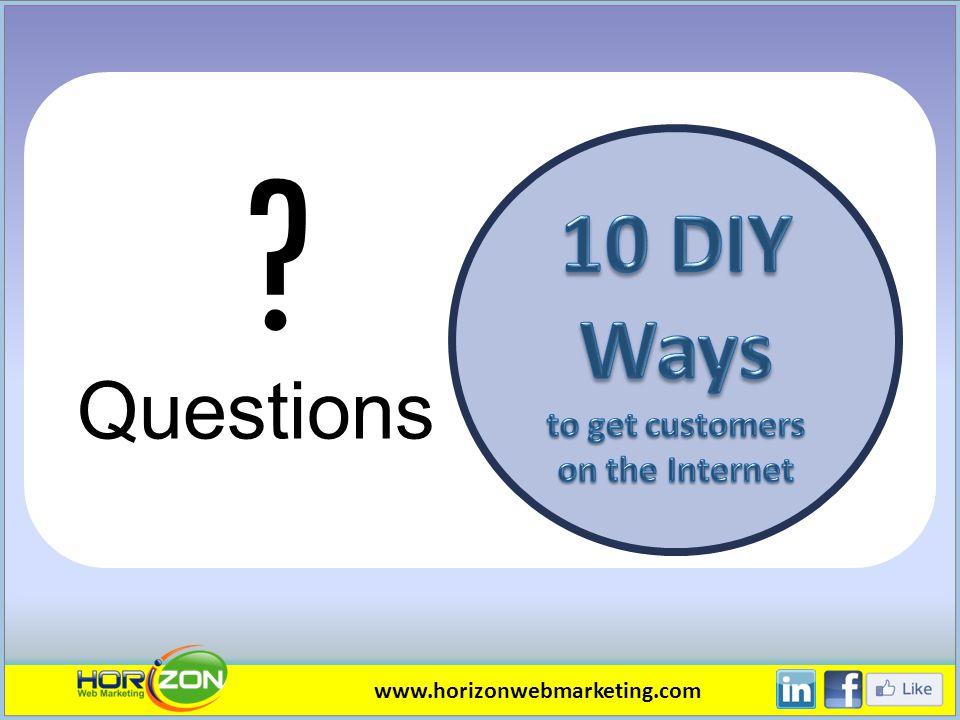 Questions www.horizonwebmarketing.com