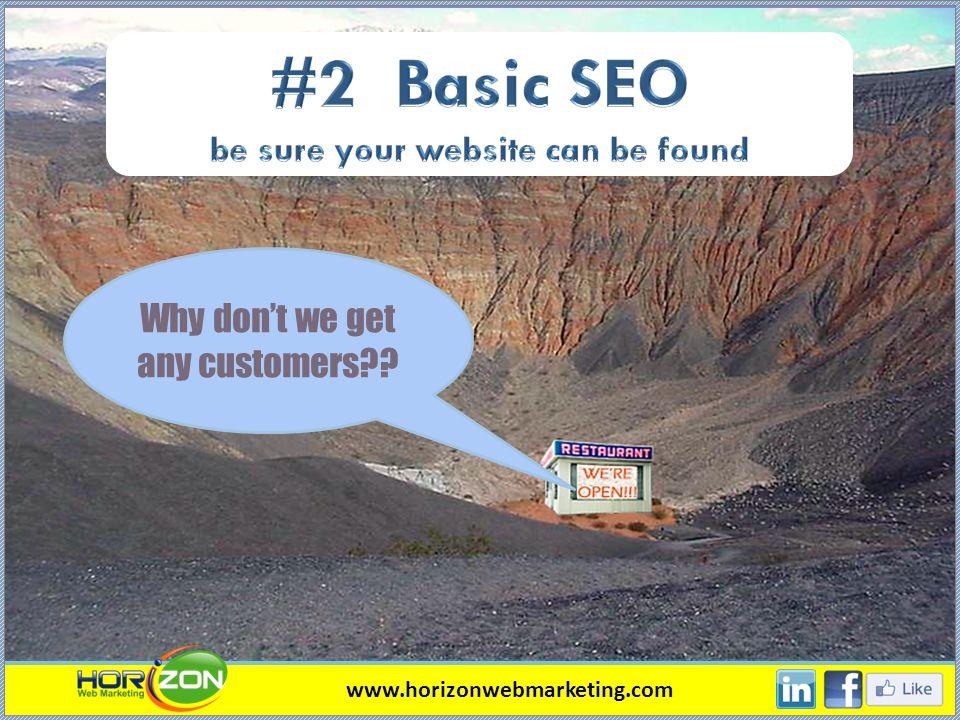 Why dont we get any customers www.horizonwebmarketing.com