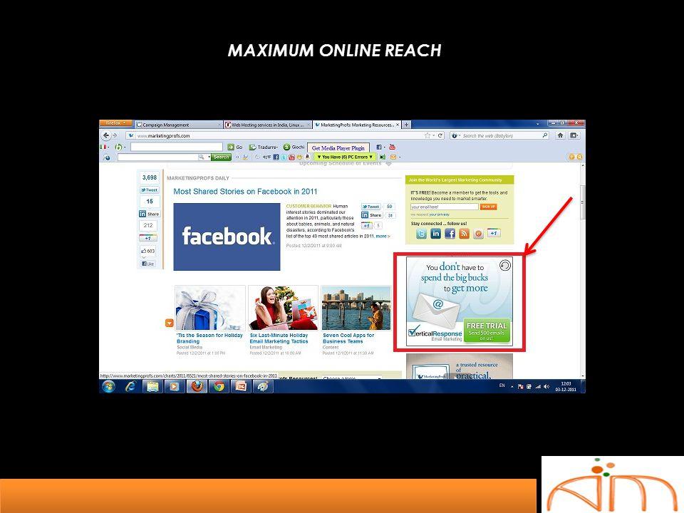 MAXIMUM ONLINE REACH